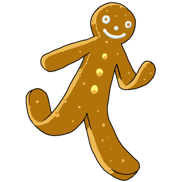 Go Back > Gallery For > Gingerbread Man Running Template