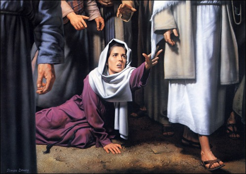 Jesus Heals the Bleeding Woman