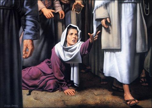 Jesus Heals the Bleeding Woman